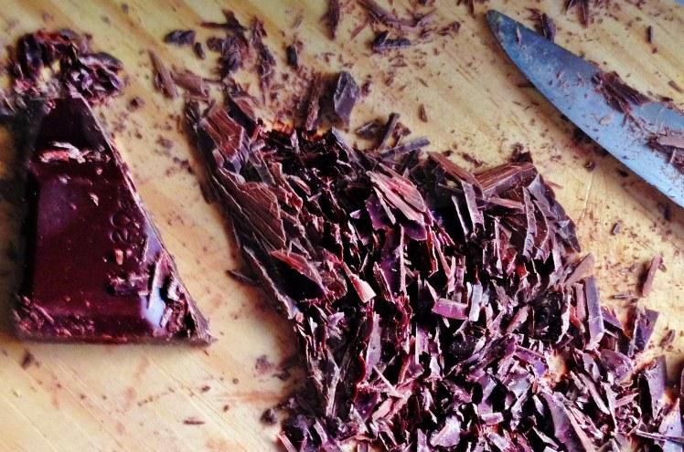 Tarta de chocolate pera y pistacho