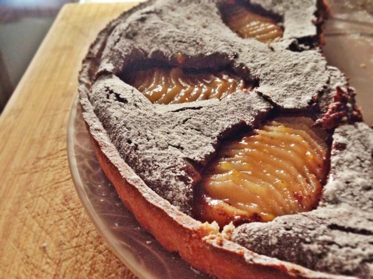Tarta de chocolate y peras4