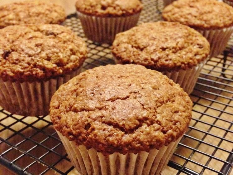 Muffins de avena zanahoria y pasas 2