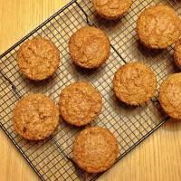 Muffins de avena, zanahoria y pasas
