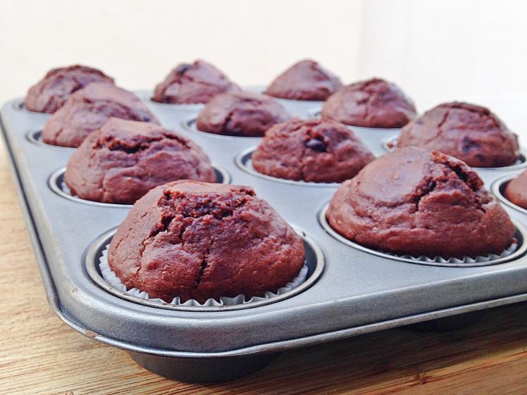 FitMuffins de chocolate con chocolate2