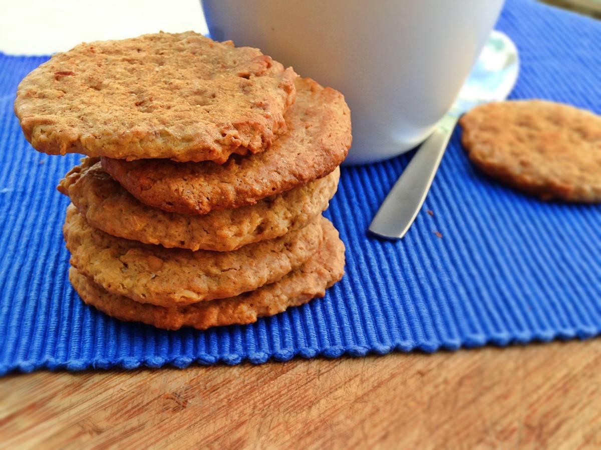 Galletas de mantequilla de cacahuete y avena