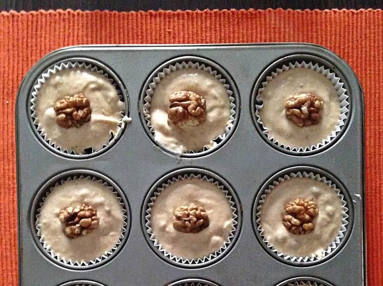 Magdalenas de pera y nueces 2