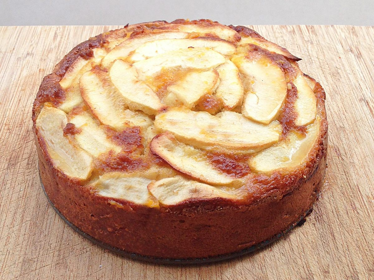 Tarta de manzana sin lactosa