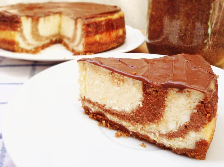 Tarta de queso y Nocilla (Nutella cheesecake)