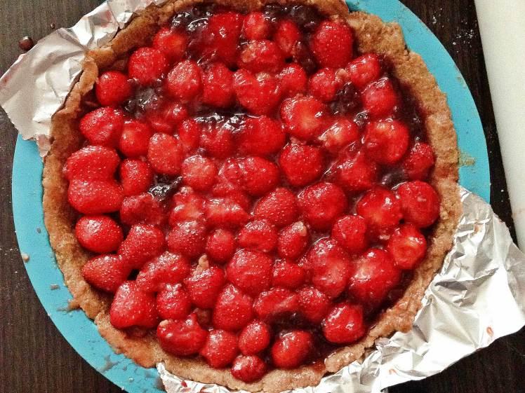 Tarta sencilla de fresas 2