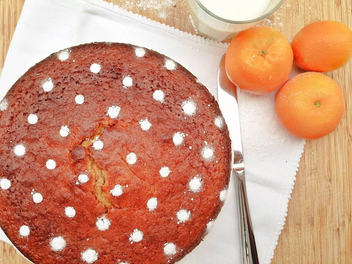 Bizcocho de mandarinas y avena