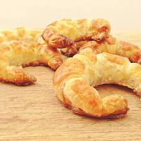Mini croissants rellenos de Nocilla