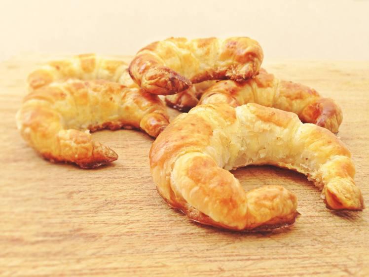Mini croissant relleno de Nocilla