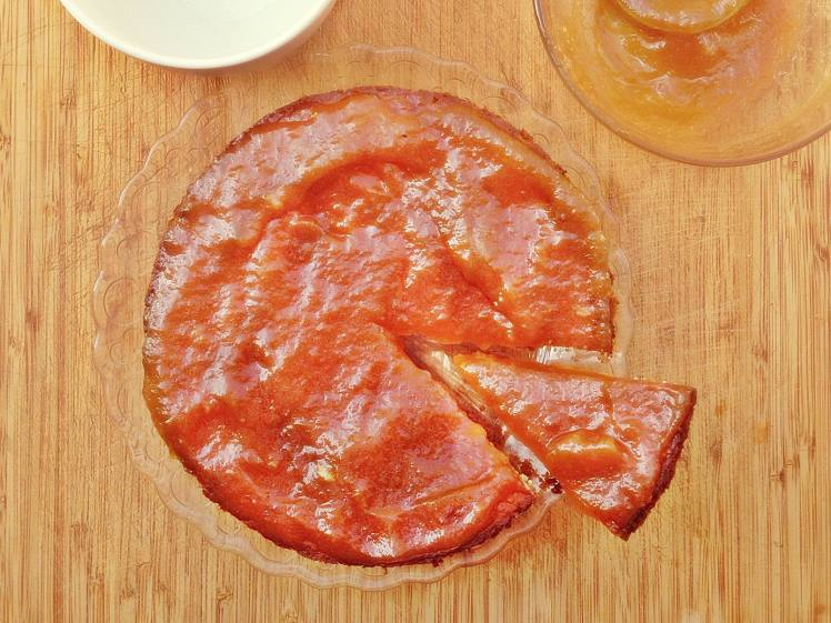 Tarta de queso con mermelada de melón 2
