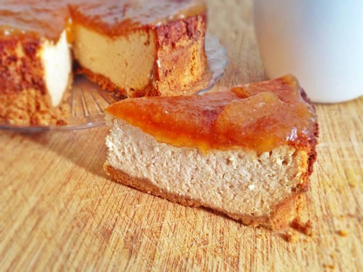 Tarta de queso con mermelada de melón
