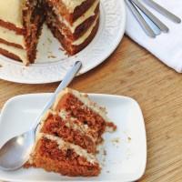 Tarta de zanahoria ligera (y vegana - sin lactosa y sin huevo)