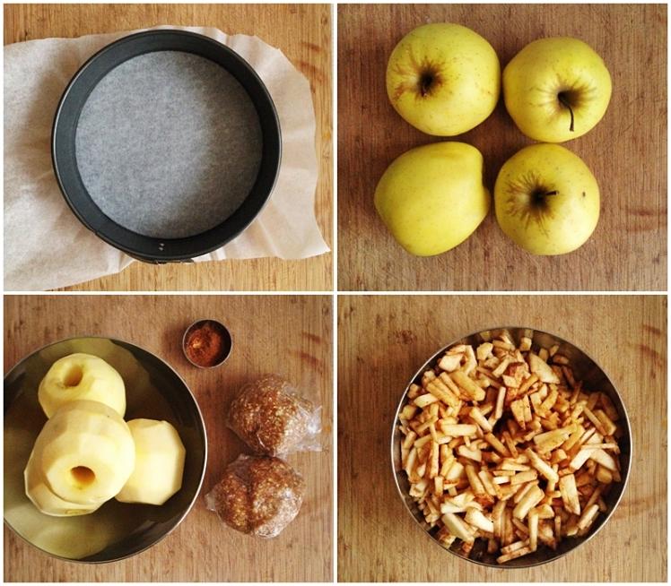 Tarta crumble de manzana y avena1