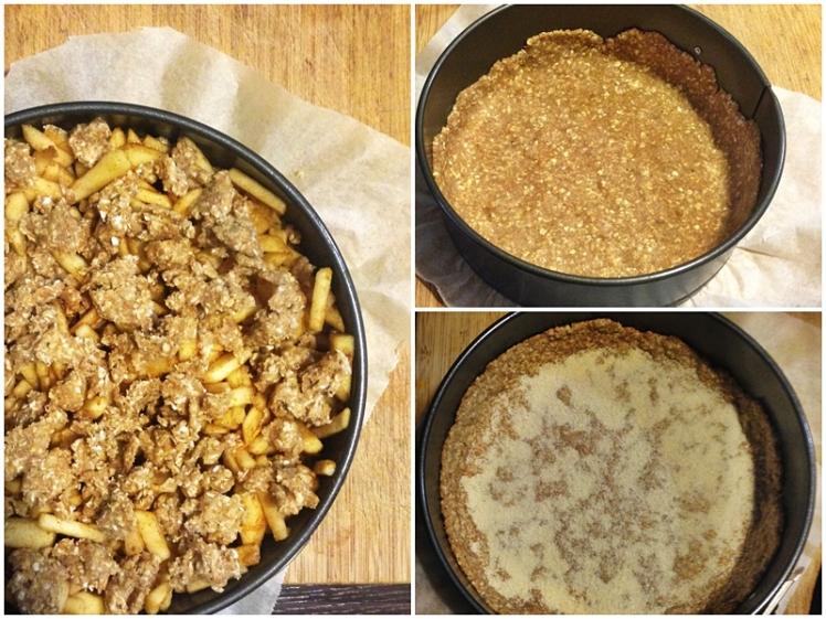 Tarta crumble de manzana y avena2