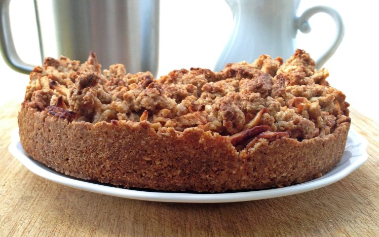 Tarta crumble de manzana y avena5