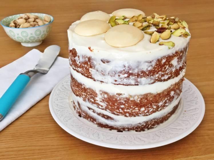 Tarta de chocolate blanco especiada