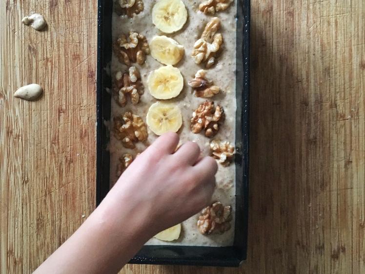 Bizcocho integral de plátano sin azúcar4
